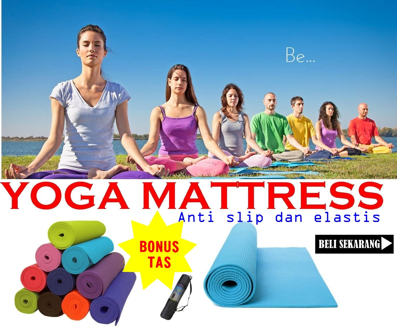Matras Yoga Anti Slip Bagus Murah